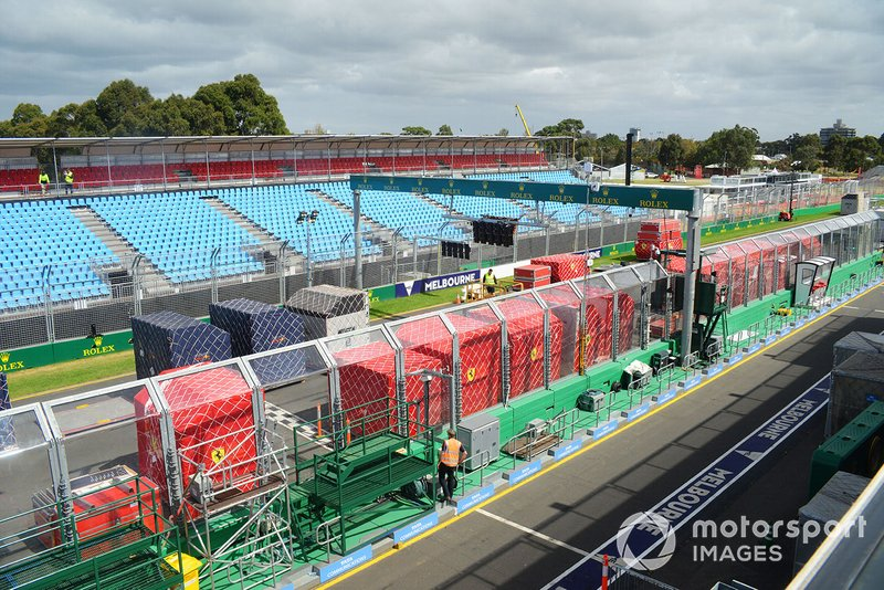 Vracht wordt uitgepakt op de grid in Melbourne