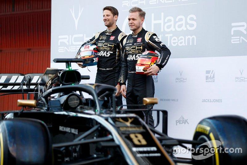 Romain Grosjean und Kevin Magnussen mit dem VF-19