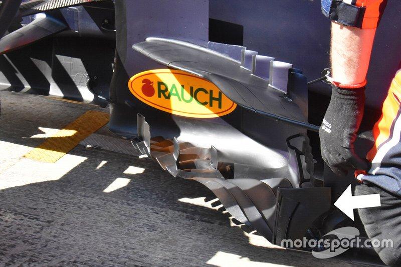 Détails du ponton de la Red Bull Racing RB15