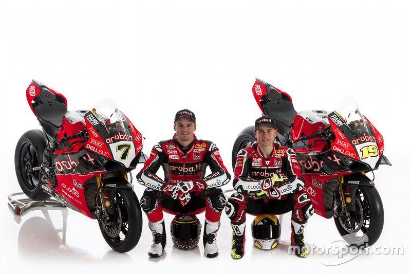 Chaz Davies, Aruba.it Racing-Ducati SBK Team; Alvaro Bautista, Aruba.it Racing-Ducati SBK Team