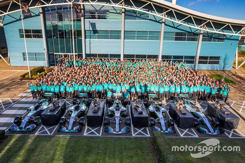 Celebración del campeonato mundial Mercedes AMG F1