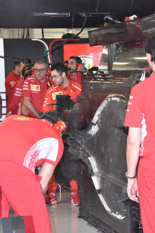 Ferrari SF71H floor under cover