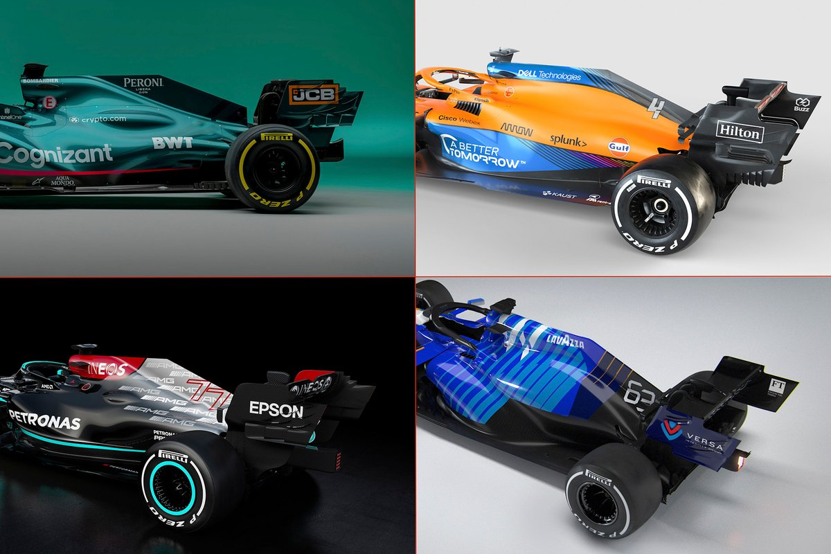 The engine covers of 2021 Mercedes-powered cars