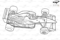 Подробная схема Ferrari F92A (644) 1992 года