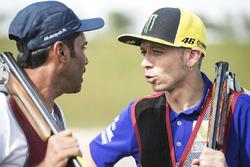 Valentino Rossi, Yamaha Factory Racing, Nasser Al-Attiyah at Losail Shooting club