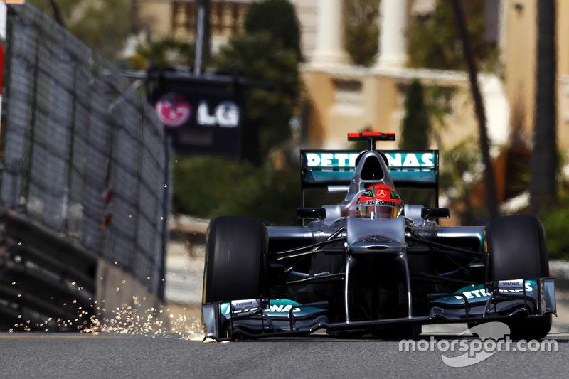 Funkenflug: Michael Schumacher, Mercedes F1 W03