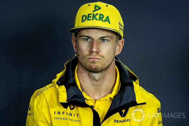 Nico Hulkenberg, Renault Sport F1 Team RS17 en la conferencia de prensa