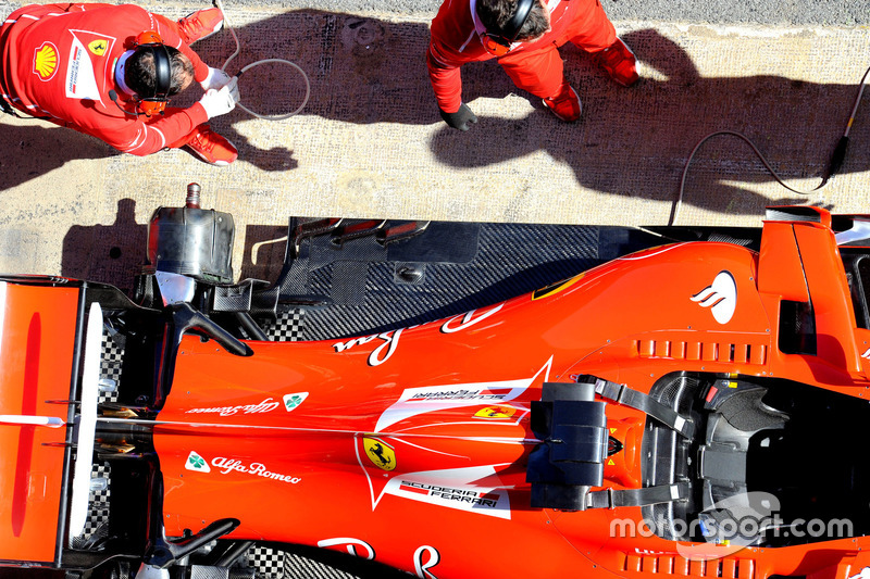Деталь задньої частини Ferrari SF70H