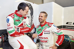 Norbert Michelisz, Honda Racing Team JAS, Honda Civic WTCC and Tiago Monteiro, Honda Racing Team JAS, Honda Civic WTCC