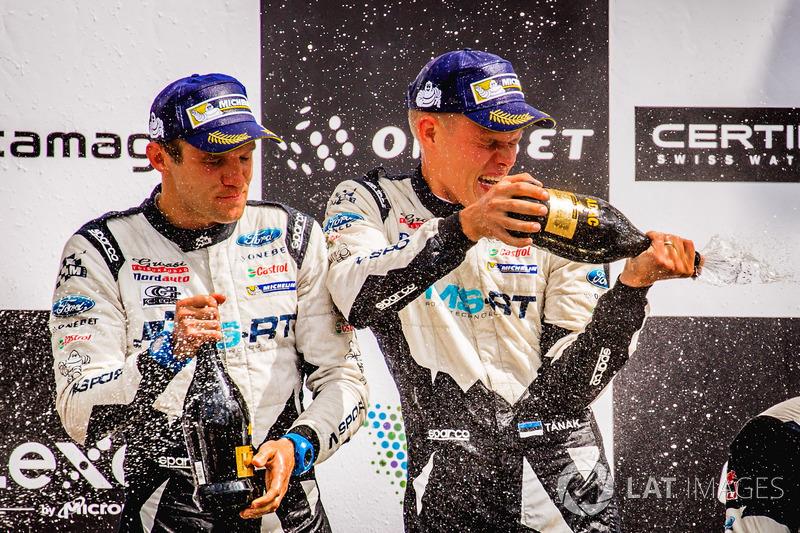 Podium: Winners Ott Tänak, Martin Järveoja, Ford Fiesta WRC, M-Sport