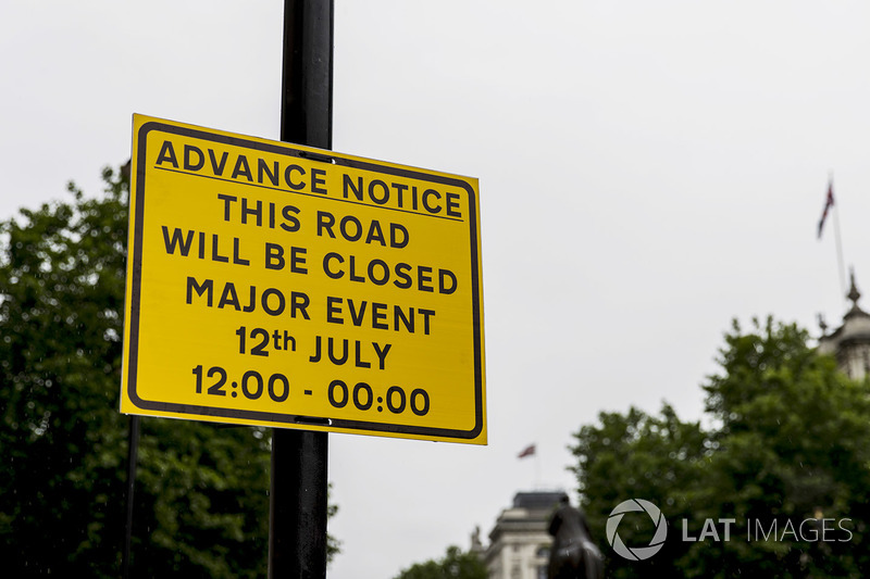 Preparations for F1 Live London