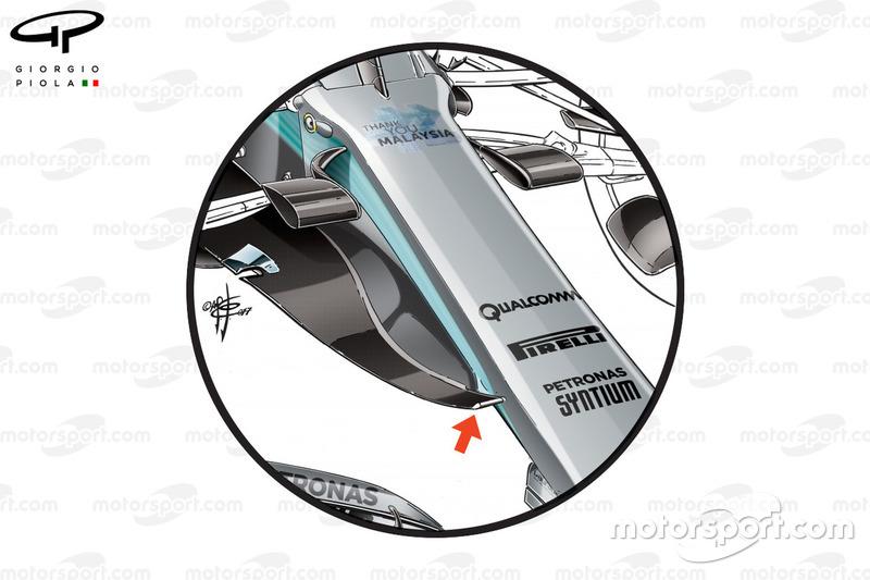Mercedes W08 nuovo naso, GP della Malesia