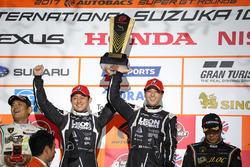 Podium GT300: #65 K2 R&D Leon Racing Mercedes SLS AMG GT3: Haruki Kurosawa, Naoya Gamou