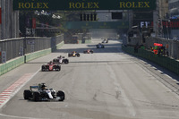 Lewis Hamilton, Mercedes AMG F1 W08, Sebastian Vettel, Ferrari SF70H, Sergio Perez, Sahara Force India F1 VJM10, Max Verstappen, Red Bull Racing RB13 y Kimi Raikkonen, Ferrari SF70H