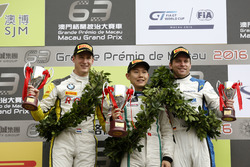 Podium GT-Cup: Race winner Adderly Fong, Bentley Team Absolute, Bentley Continental GT3; second place Nicky Catsburg, Rowe Racing BMW M6 GT3; third place Fabian Plentz, Team HCB-Rutronik-Racing Audi R8 LMS