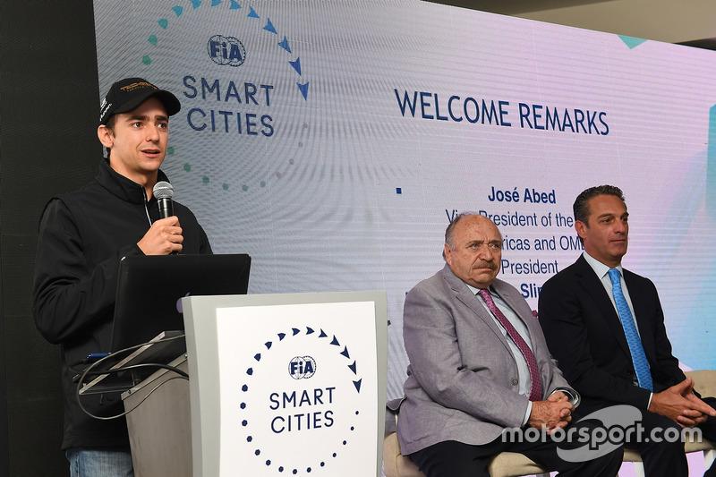 Esteban Gutiérrez, Techeetah, talks to the media