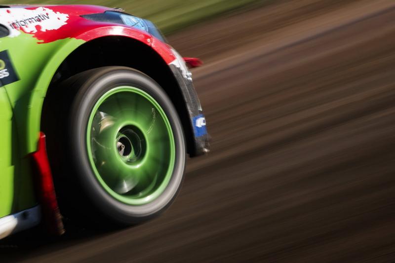 Detail: Rallycross-Action in Barcelona
