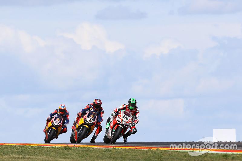 Eugene Laverty, Milwaukee Aprilia World Superbike Team, Stefan Bradl, Honda World Superbike Team, Nicky Hayden, Honda World Superbike Team