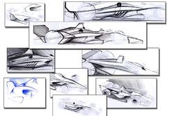 Чертежи концепции обвесов машин IndyCar 2018