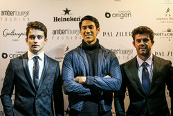 Charles Leclerc, Sauber, Sean Gelael, Scuderia Toro Rosso and Norman Nato, at Amber Lounge Fasion Show