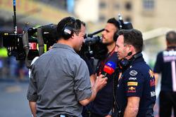 Ted Kravitz, Sky TV and Christian Horner, Red Bull Racing Team Principal