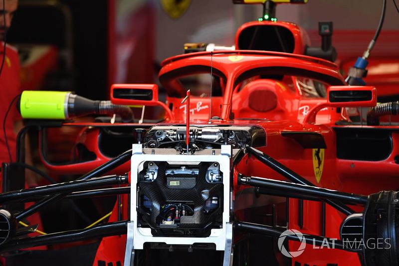 Ferrari SF71H ön süspansiyon ve şasi