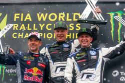 Podio: Ganador, Johan Kristoffersson, PSRX Volkswagen Sweden, segundo, Sébastien Loeb, Team Peugeot Total,-tercero, Petter Solberg, PSRX Volkswagen Sweden