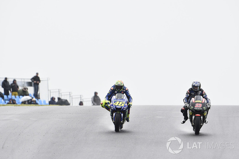 Valentino Rossi et Broc Parkes