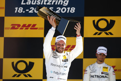 Podio: il vincitore della gara Gary Paffett Mercedes-AMG Team HWA