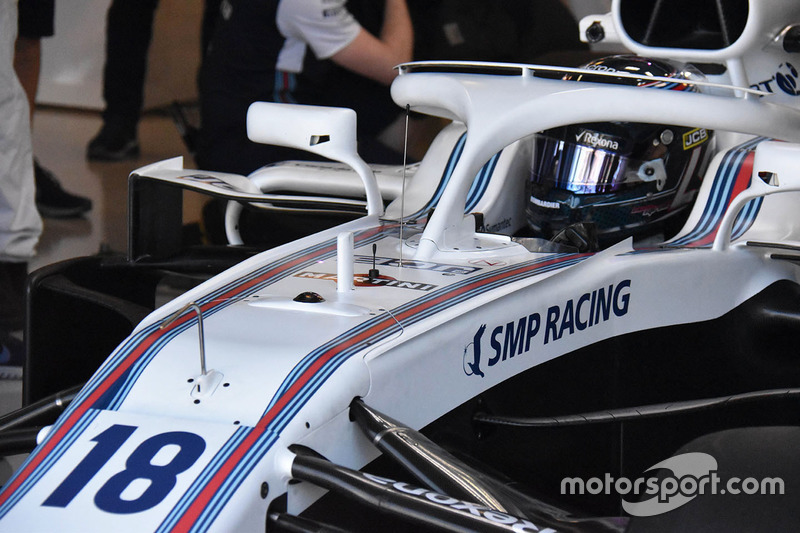 Lance Stroll, Williams FW41 front detail