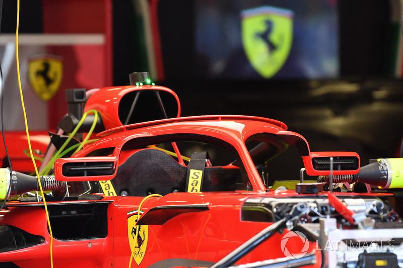 Spion halo baru Ferrari SF71H