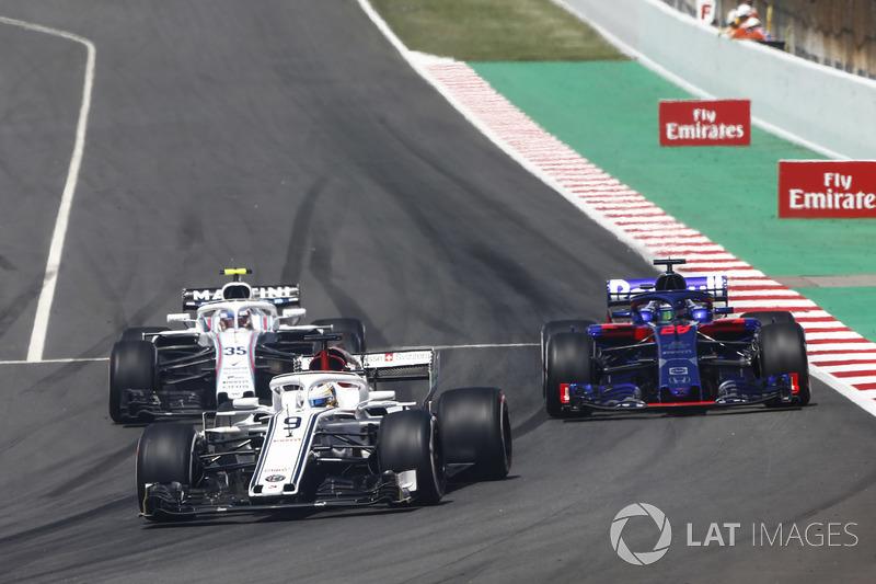 Marcus Ericsson, Sauber C37, Brendon Hartley, Toro Rosso STR13, Sergey Sirotkin, Williams FW41