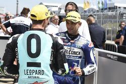Le troisième Enea Bastianini, Leopard Racing, le poleman  Jorge Martin, Del Conca Gresini Racing Moto3