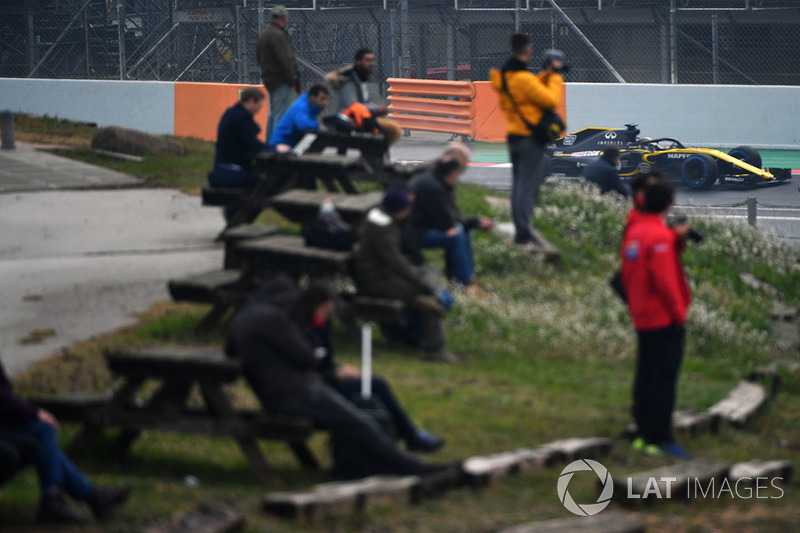Болельщики и Нико Хюлькенберг, Renault Sport F1 Team RS18