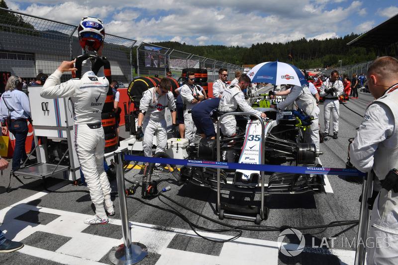 Sergey Sirotkin, Williams FW41, in griglia