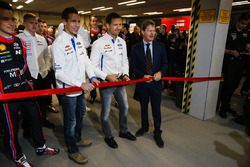 WRC drivers, including Thierry Neuville, Andreas Mikkelsen and Sébastien Ogier, open the show