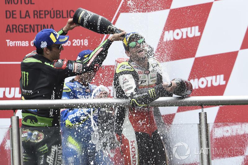Друге місце Жоанн Зарко, Monster Yamaha Tech 3, переможець гонки Кел Кратчлоу, Team LCR Honda