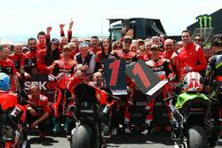 Marco Melandri, Aruba.it Racing-Ducati SBK Team, Chaz Davies, Aruba.it Racing-Ducati SBK Team