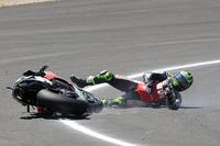 Sturz: Cal Crutchlow, Team LCR Honda