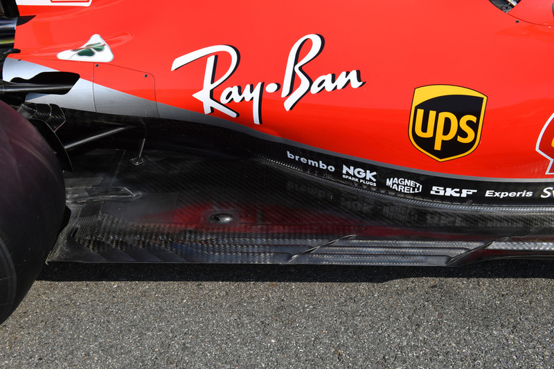Ferrari SF71H rear floor detail