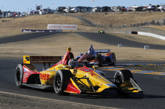 Ryan Hunter-Reay, Andretti Autosport Honda, Scott Dixon, Chip Ganassi Racing Honda