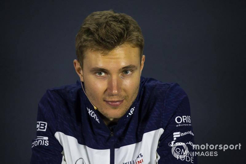 Sergey Sirotkin, Williams Racing en conférence de presse