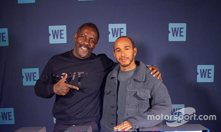 Idris Elba and Lewis Hamilton