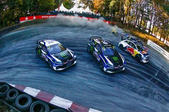 Johan Kristoffersson, PSRX Volkswagen Sweden, Petter Solberg, PSRX Volkswagen Sweden, Andreas Bakkerud, EKS Audi Sport