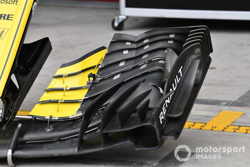 Renault Sport F1 Team R.S. 18 voorvleugel detail