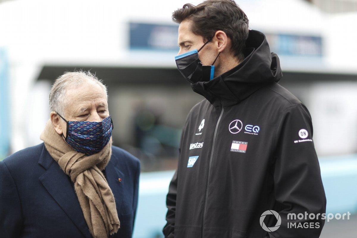 Jean Todt, President, FIA, with Ian James, Team Principal, Mercedes Benz EQ
