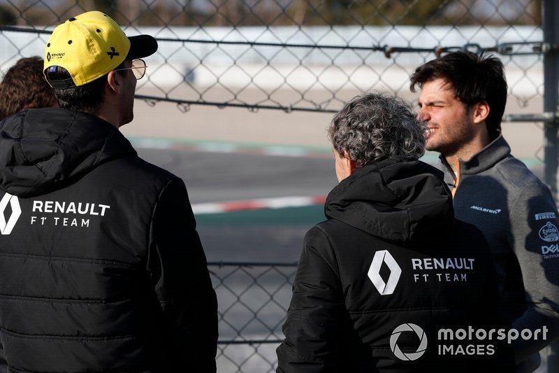 Daniel Ricciardo, Renault F1 Team ve Alain Prost, Renault F1 Team Danışmanı ve Carlos Sainz Jr., McLaren