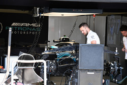 Mercedes-AMG F1 W09 EQ Power+ in the garage