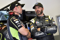 Jimmie Johnson, Hendrick Motorsports Chevrolet Camaro and Chad Knaus