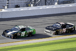Brandon Jones, Joe Gibbs Racing, Juniper Toyota Camry and Spencer Boyd, SS-Green Light Racing, Grunt